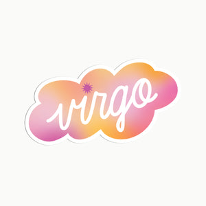 Gradient Virgo Clear Die Cut Sticker