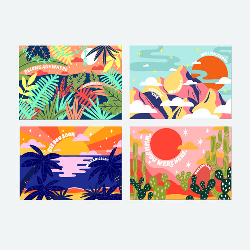 Vacation Post Card Set of 8