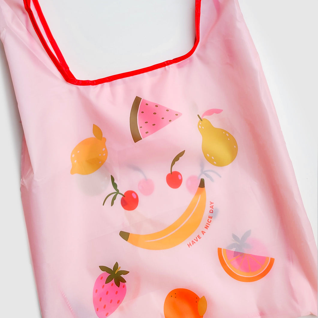 Smiley Fruit Reusable Nylon Bag