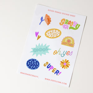Good Things Sticker Sheet
