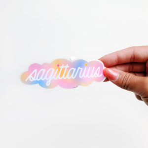 Gradient Sagittarius Clear Die Cut Sticker
