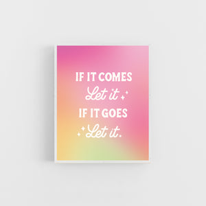 If it Comes, Let it Gradient Print