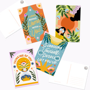 Thinking Of You Post Card Set of 8
