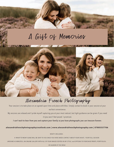 A Gift of Memories Photoshoot