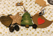 Load image into Gallery viewer, Wooden Christmas decorations £4-£5