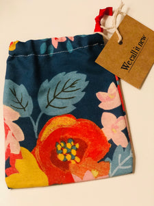 Fabric drawstring pouches £4.50