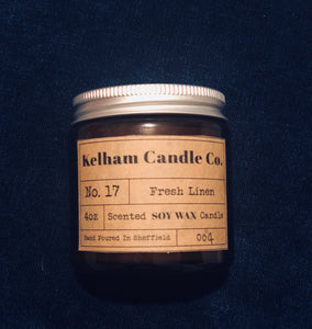 Soy wax candle - linen scent £12