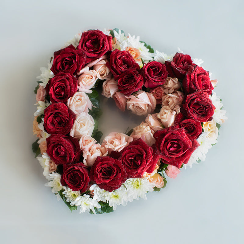 Red Heart Wreath - Concentric Hearts