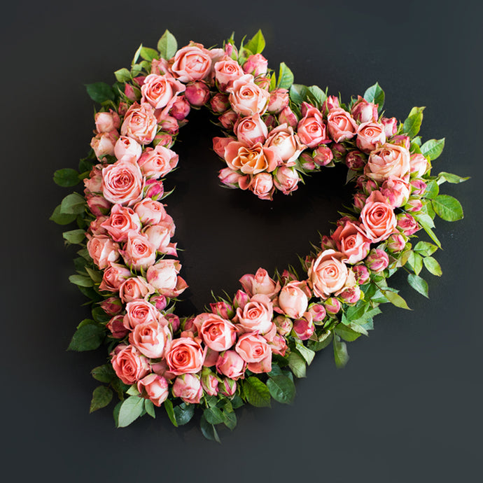 Pink Heart Wreath - Pink is Her Favourite Colour