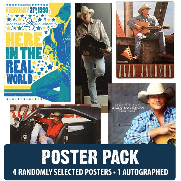 Alan Jackson 4 Poster Pack - 1 Autographed