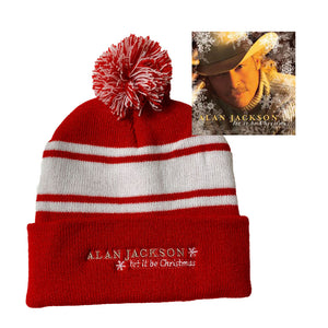 Pom Pom Beanie with Let It Be Christmas CD