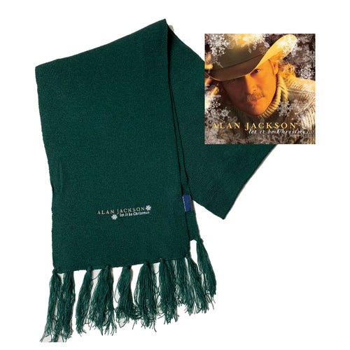 Scarf with Let It Be Christmas CD