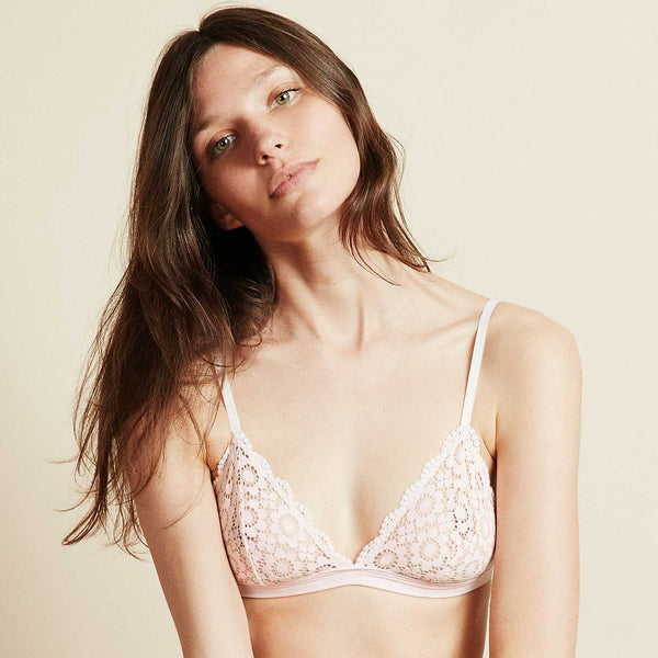 The Shangri-La Bra in Pink Daisy Lace