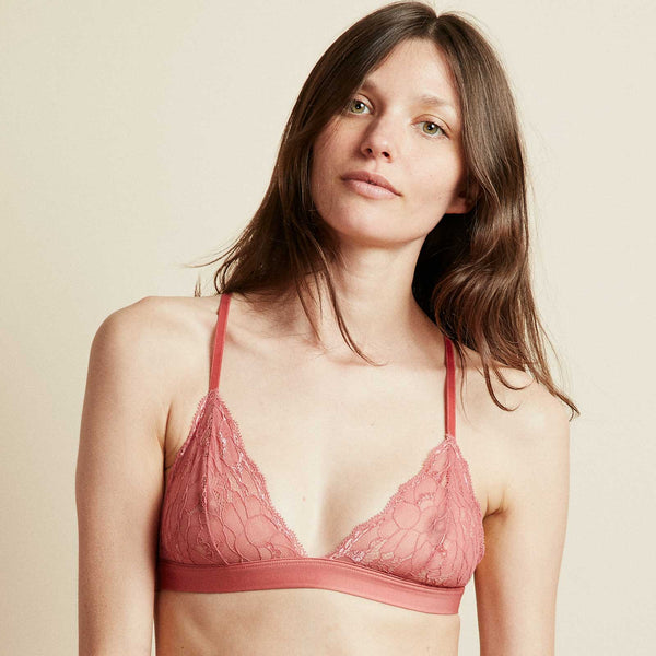 The Shangalang Bra in Terracotta Rose