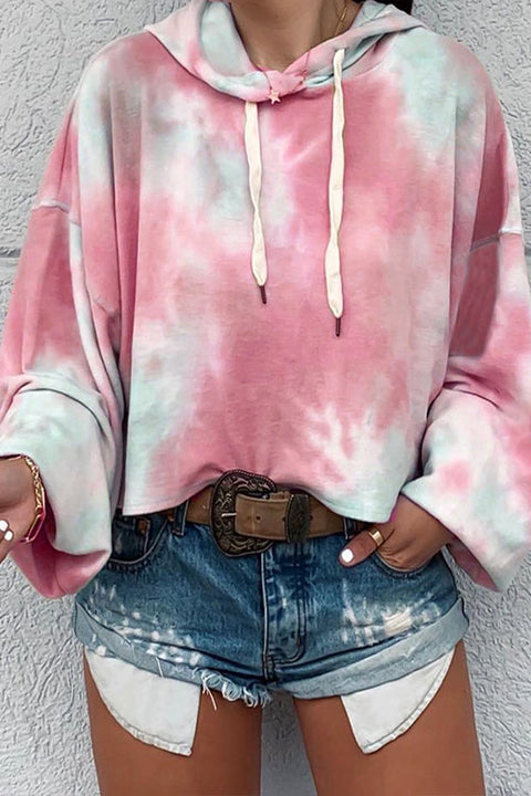 Meridress Tie Dye Drawstring Hoodied Sweatshirts