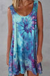 Meridress Rokiah Tie Dye Flowy Tank Dress