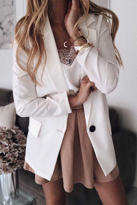 Meridress Madi Solid One Button Blazer Jacket