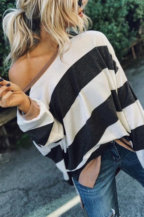 Meridress  Hanna Oversized Striped T-Shirt Top