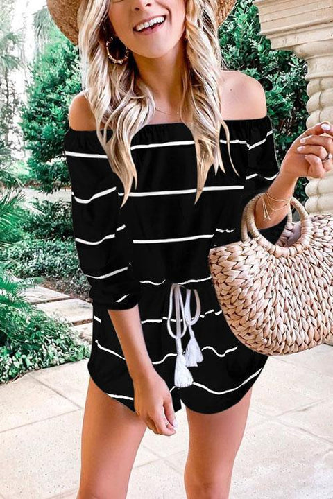 Meridress Oxygen Beauty Striped Jumpsuit