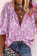 Meridress Floral Printed Button Down Long Sleeve Blouse Shirt