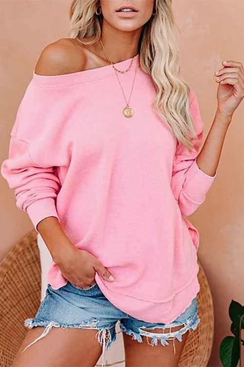 MR Clare Long Sleeve Side Split SweatShirt