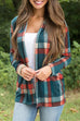 Meridress Open Front Elbow Patch Plaid Cardigan