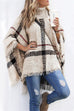 Meridress Burberry Lattice Cloak Poncho Sweater