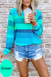 Meridress Rainbow Striped Long Sleeves Pullover Top