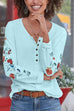 Meridress Embroidered Long Sleeve Blouse Top