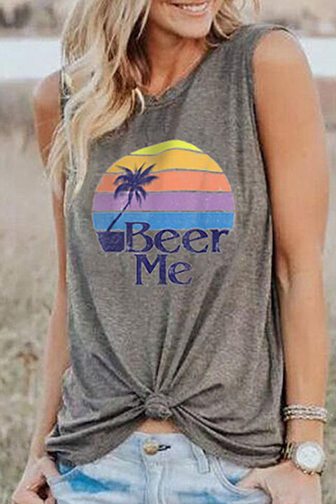 Meridress Beer Me Sleeveless Shirt