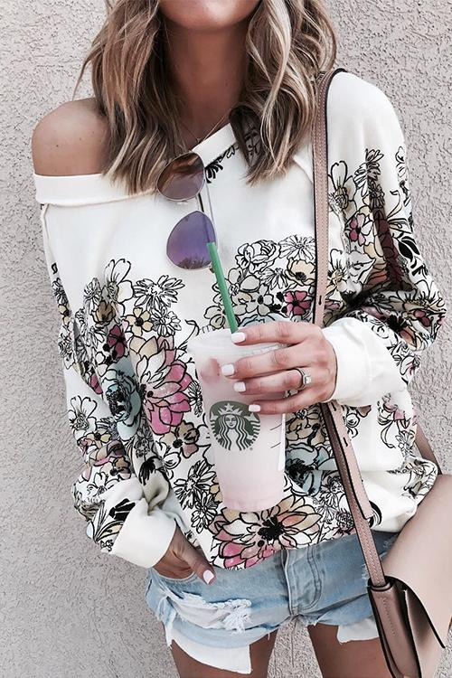 Meridress Taina Floral Printed Blouse Top