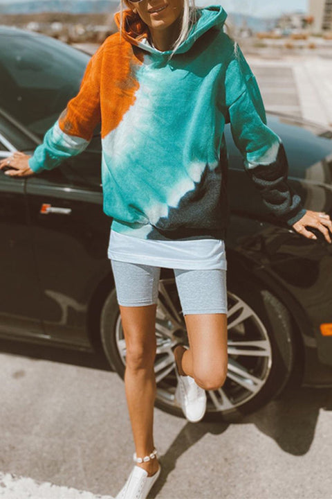 Meridress Kiki Tie Dye Hoodied Sweatshirt