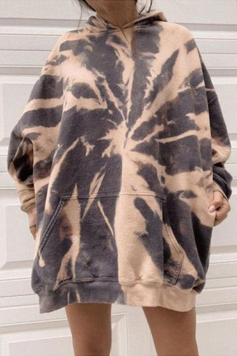 Meridress Oversized Tie Dye Hoodied Sweatshirts with Pockets