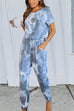 Meridress Blue Skys Drawstring Waist Jumpsuits