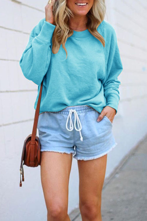Meridress Nisha Crewneck Candy Color Sweatshirt