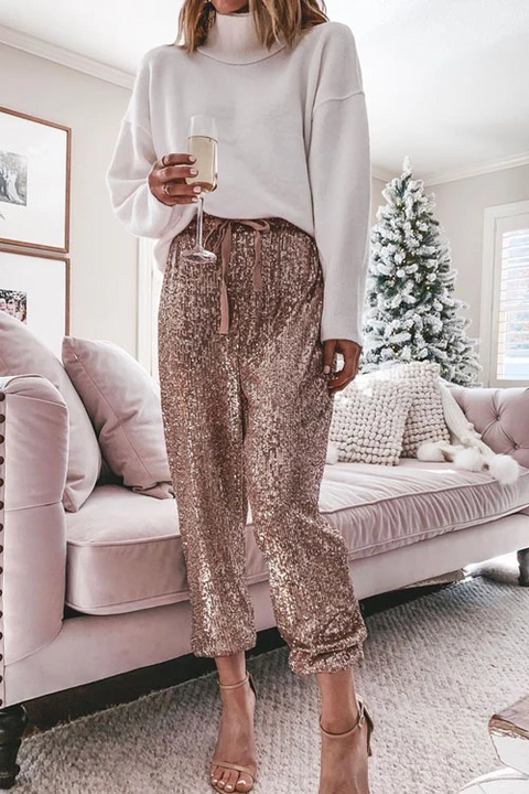Meridress Casual Style Sequin Pants