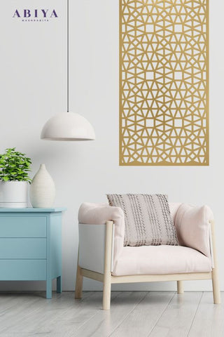 Cozy reading nook home decor Inspiration with metal wall art by ABIYA