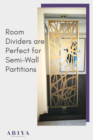 Room Dividers are perfect for semi-wall partitions