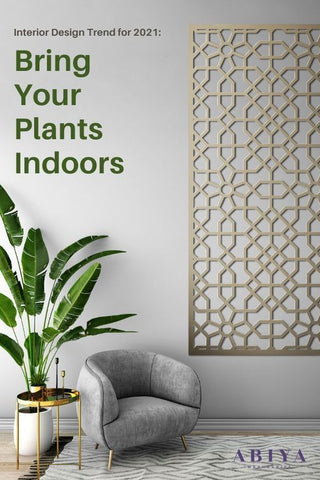 Interior Design Trend is to bring your plants indoors decorate your home with plants
