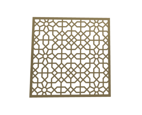 Laser Cut Metal Decorative Wall Decor / Wall Art-Square by ABIYA.