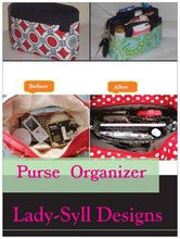 Load image into Gallery viewer, Red Flowers Purse Organizer