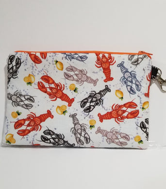 Asst color lobsters Zipper Pouch