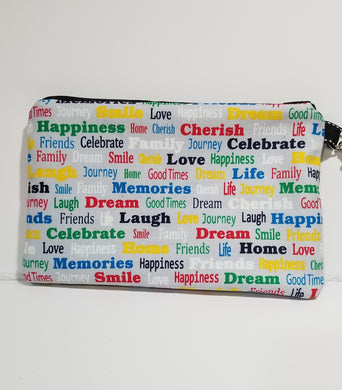 Happiness Zipper Pouch