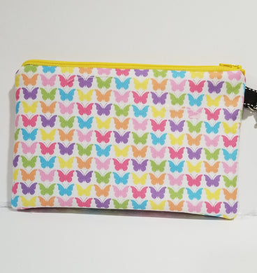 Asst Butterfly Zipper Pouch