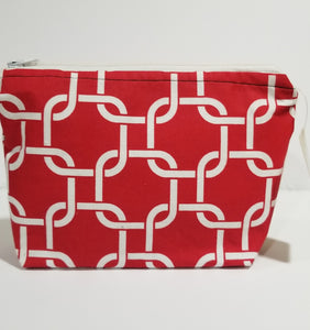 Red make up bag