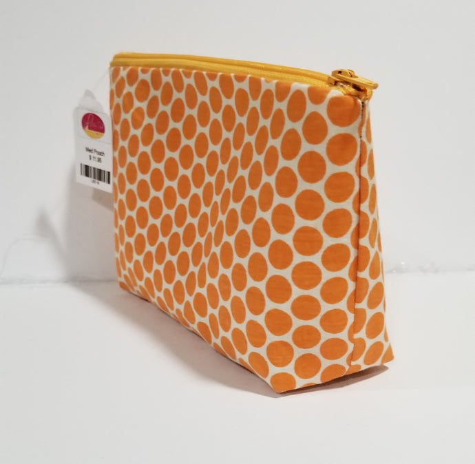 Orange Make up Bag