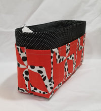 Load image into Gallery viewer, Black dots shoes Large Purse Organizer