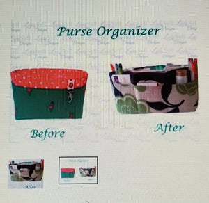 Black dots shoes Large Purse Organizer