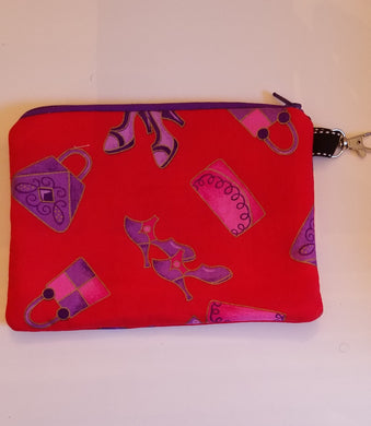 Red and Purple Zipper Pouch