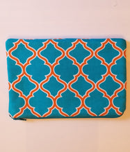 Load image into Gallery viewer, Turquoise Zipper Pouch